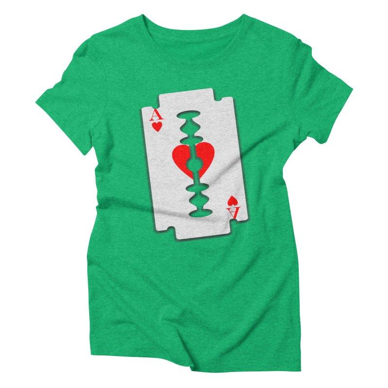 LOVE HURTS Women's Triblend T-Shirt by Sinazz's Artist Shop