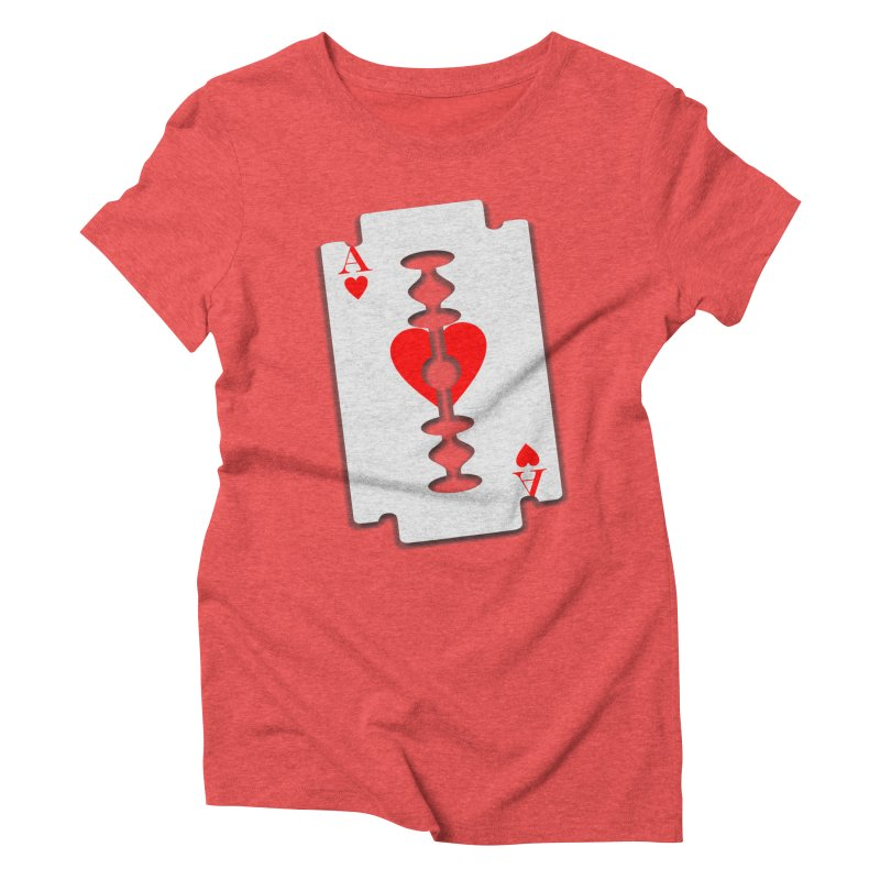 LOVE HURTS Women's Triblend T-Shirt by Sinazz's Artist Shop