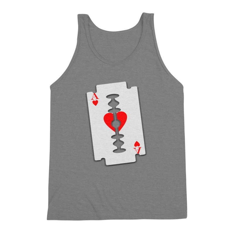 LOVE HURTS Men's Triblend Tank by Sinazz's Artist Shop