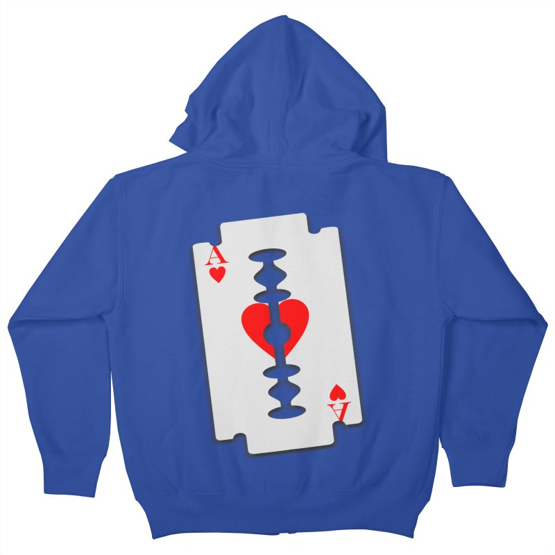 LOVE HURTS Kids Zip-Up Hoody by Sinazz's Artist Shop