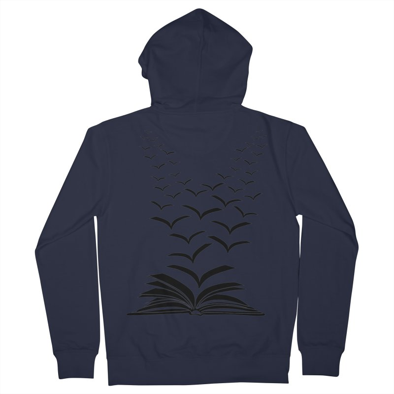 BEING FREE IS A STATE OF MIND! Men's French Terry Zip-Up Hoody by Sinazz's Artist Shop