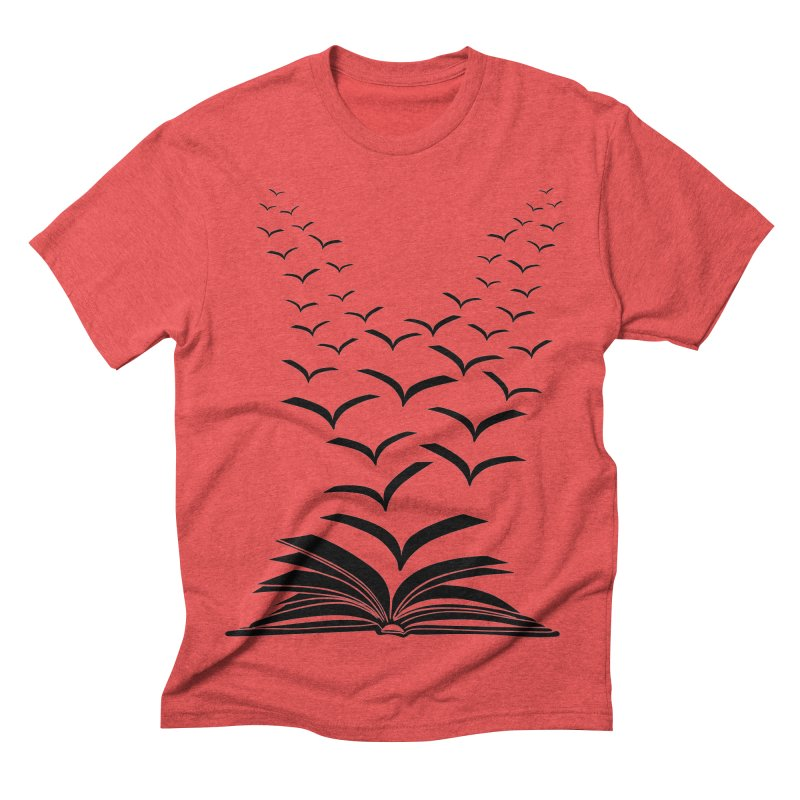 BEING FREE IS A STATE OF MIND! in Men's Triblend T-shirt Chili Red by Sinazz's Artist Shop