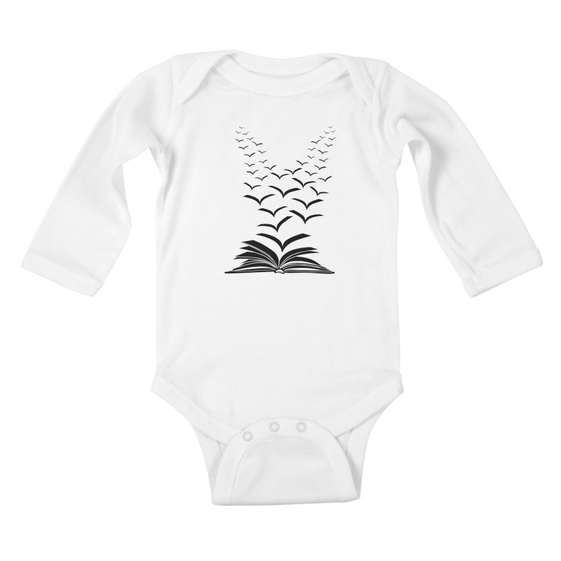 BEING FREE IS A STATE OF MIND! Kids Baby Longsleeve Bodysuit by Sinazz's Artist Shop