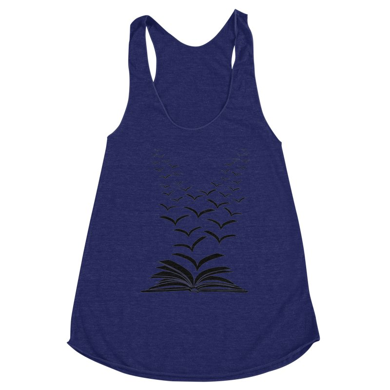 BEING FREE IS A STATE OF MIND! Women's Racerback Triblend Tank by Sinazz's Artist Shop