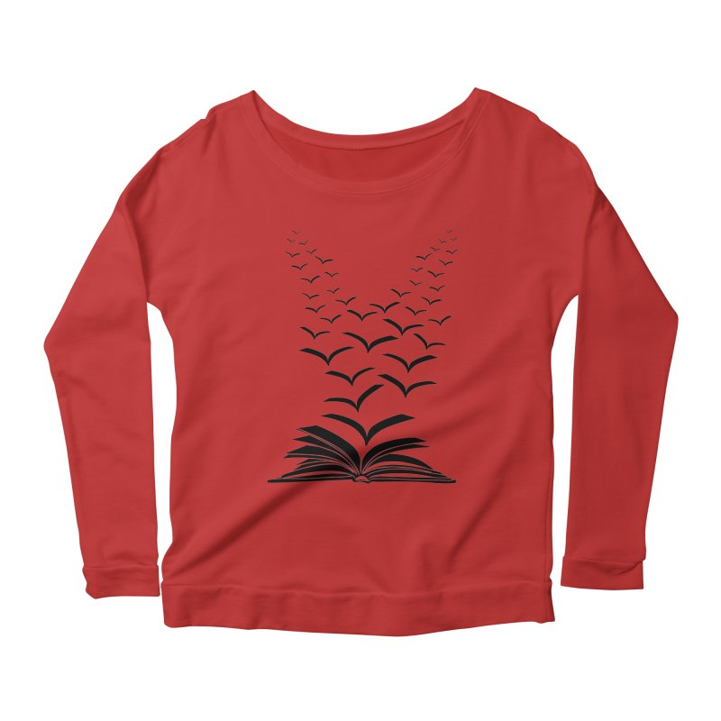 BEING FREE IS A STATE OF MIND! Women's Longsleeve Scoopneck  by Sinazz's Artist Shop