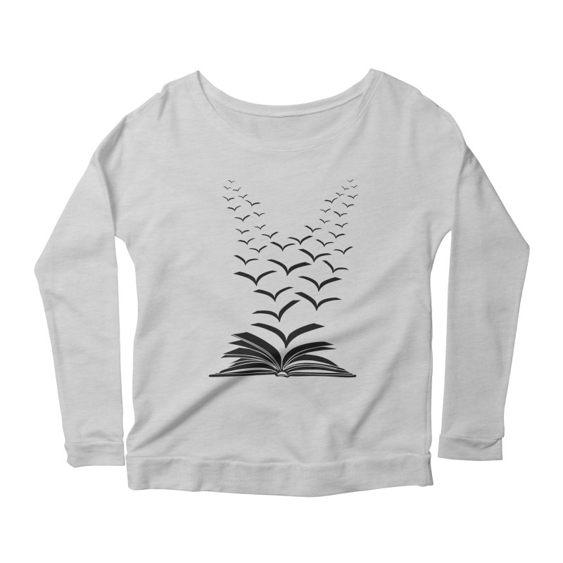 BEING FREE IS A STATE OF MIND! Women's Scoop Neck Longsleeve T-Shirt by Sinazz's Artist Shop
