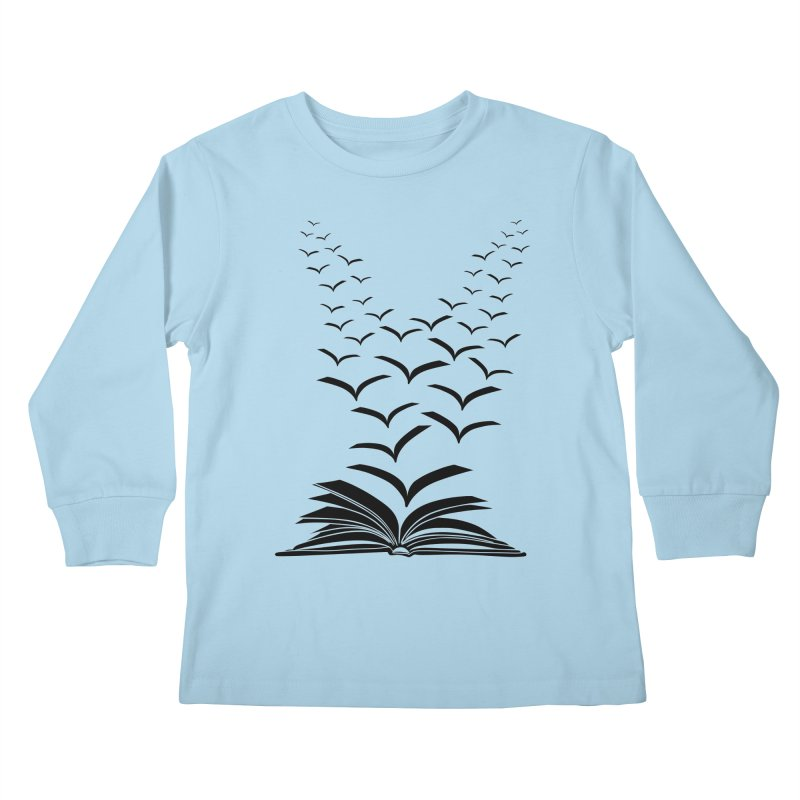 BEING FREE IS A STATE OF MIND! Kids Longsleeve T-Shirt by Sinazz's Artist Shop