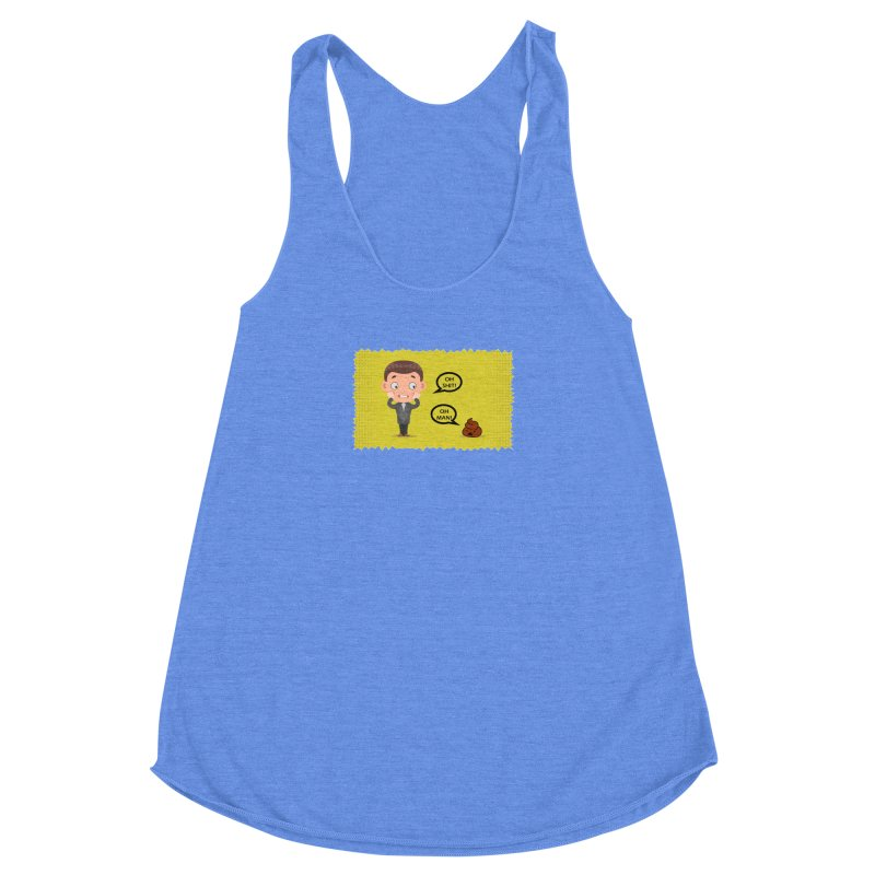 CAN I SPEAK TO YOU Women's Racerback Triblend Tank by Sinazz's Artist Shop
