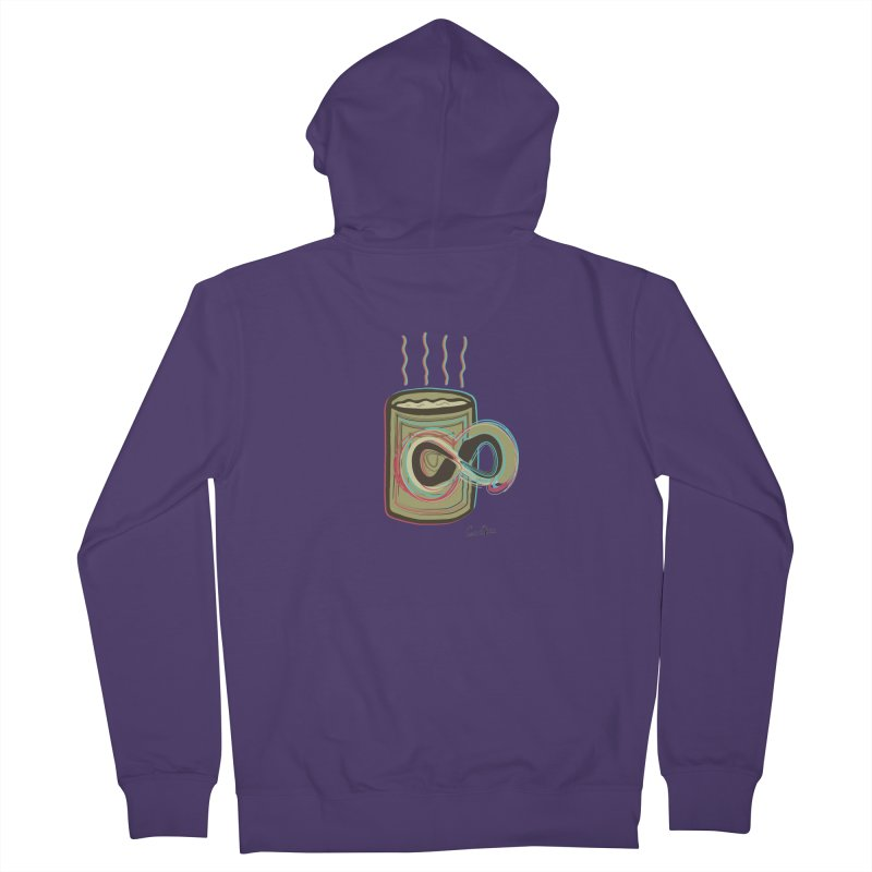 INFINITE COFFE Women's French Terry Zip-Up Hoody by Sinazz's Artist Shop