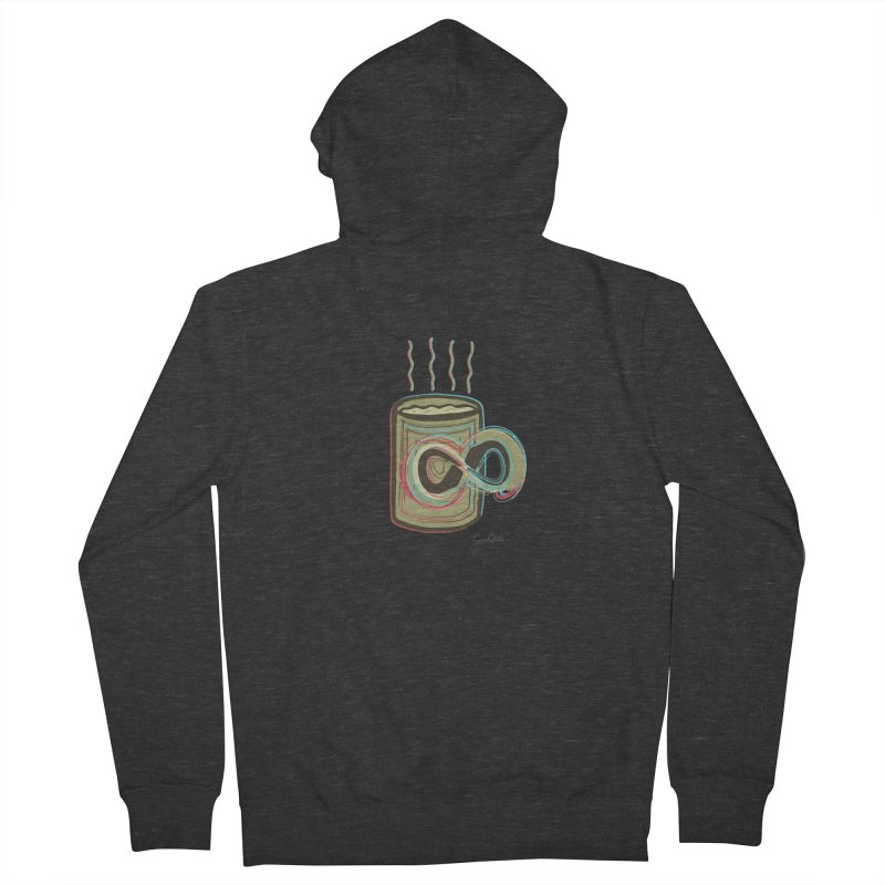 INFINITE COFFE Men's French Terry Zip-Up Hoody by Sinazz's Artist Shop