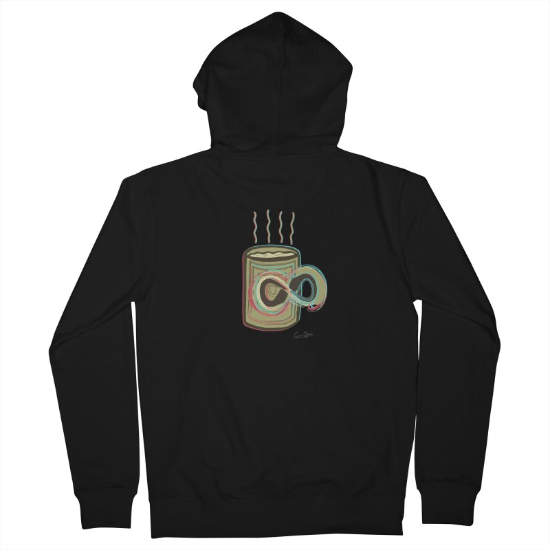 INFINITE COFFE Men's Zip-Up Hoody by Sinazz's Artist Shop