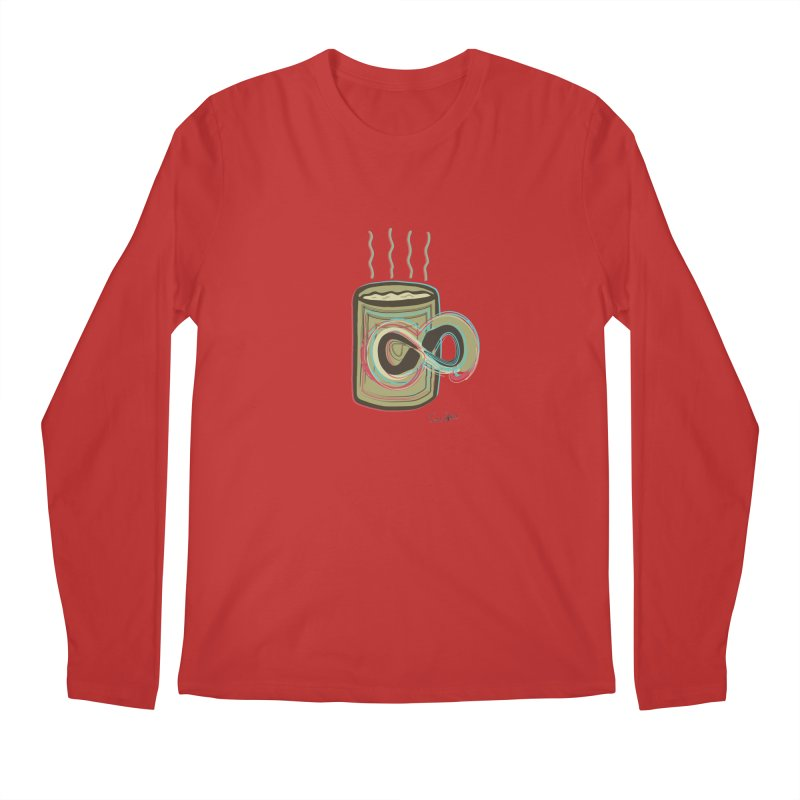 INFINITE COFFE Men's Regular Longsleeve T-Shirt by Sinazz's Artist Shop