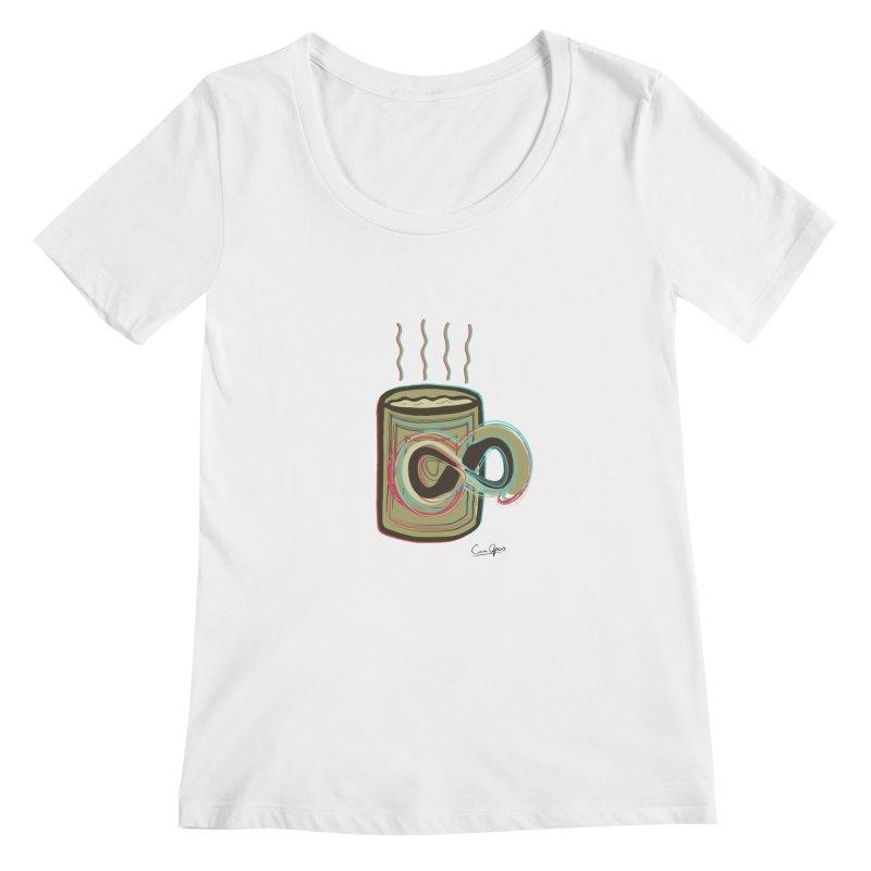 INFINITE COFFE Women's Regular Scoop Neck by Sinazz's Artist Shop