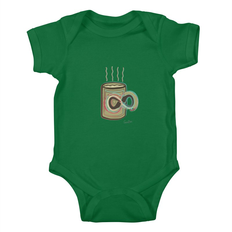 INFINITE COFFE Kids Baby Bodysuit by Sinazz's Artist Shop