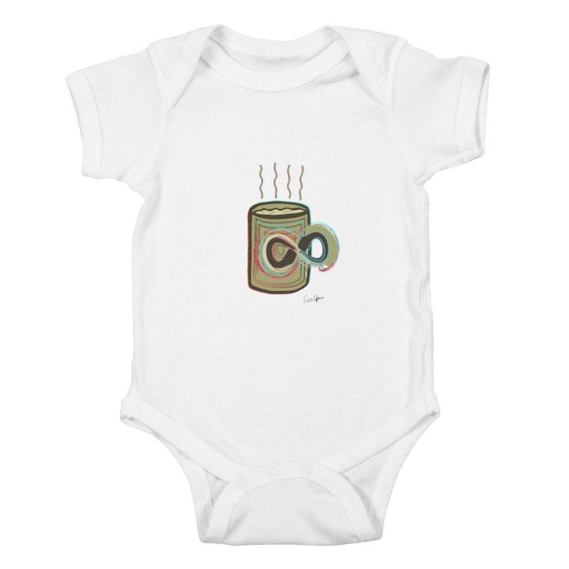 INFINITE COFFE Kids Baby Bodysuit by Sinazz's Artist Shop