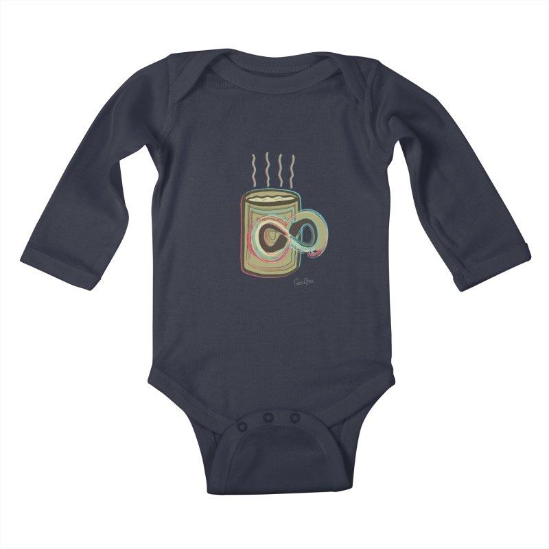 INFINITE COFFE Kids Baby Longsleeve Bodysuit by Sinazz's Artist Shop