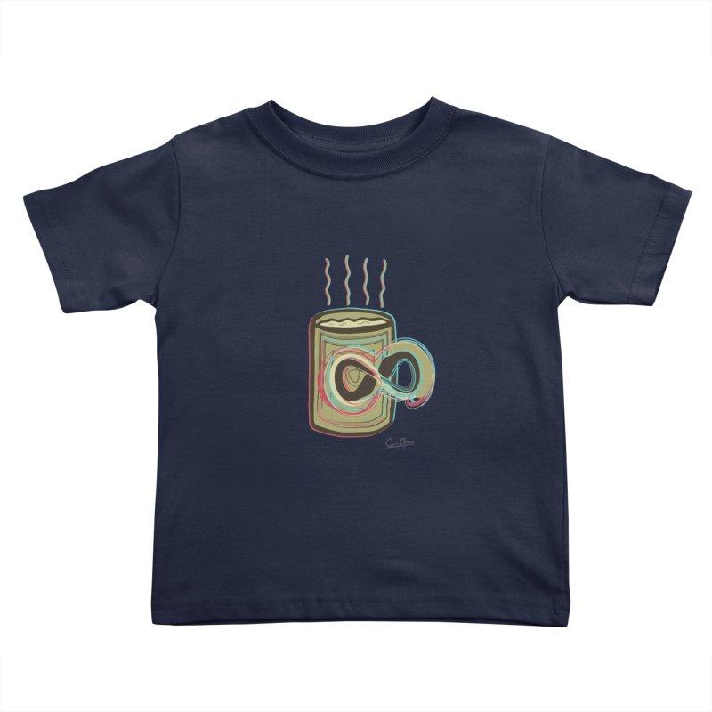INFINITE COFFE Kids Toddler T-Shirt by Sinazz's Artist Shop