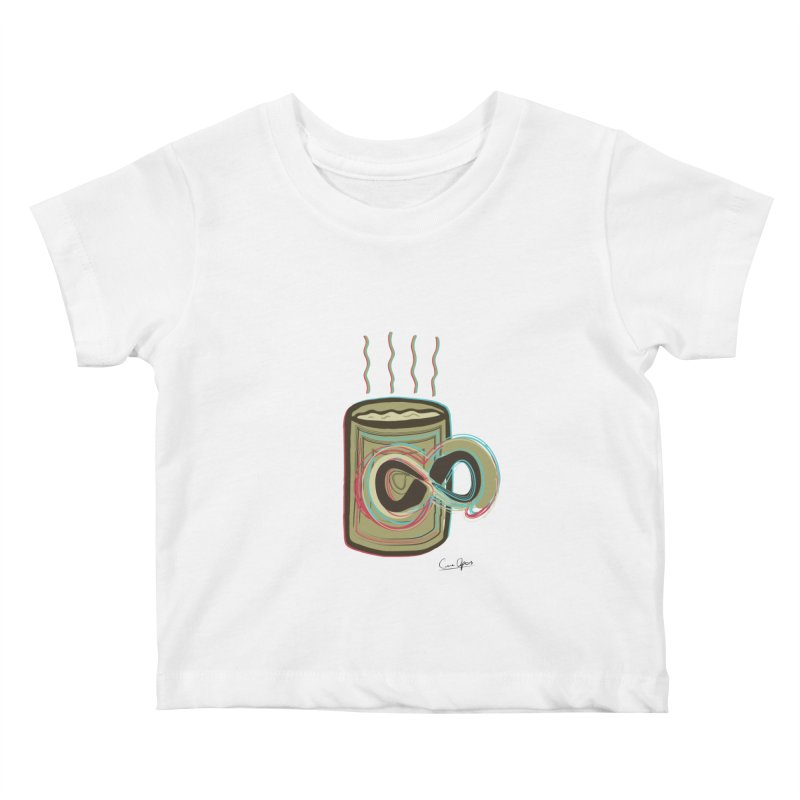INFINITE COFFE Kids Baby T-Shirt by Sinazz's Artist Shop