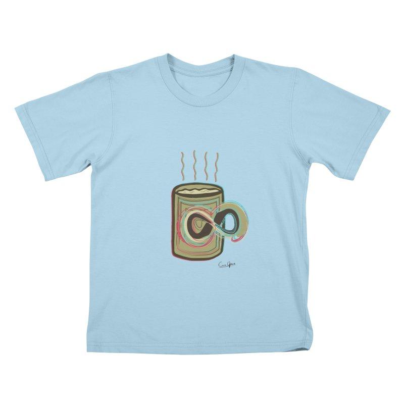 INFINITE COFFE Kids T-Shirt by Sinazz's Artist Shop
