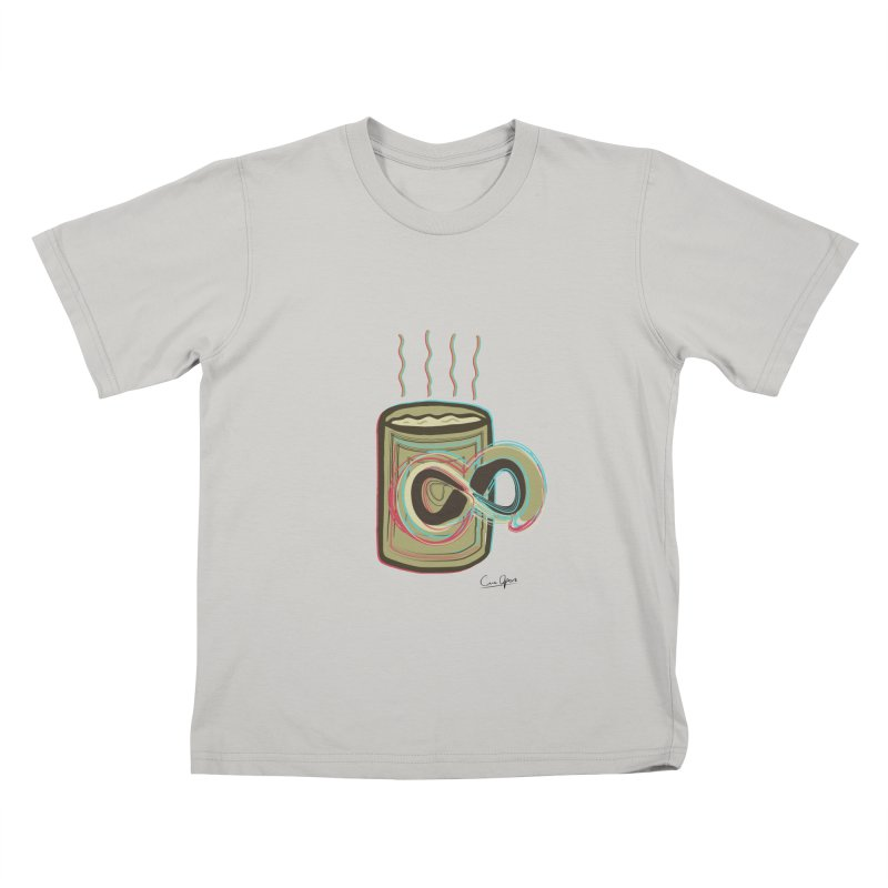 INFINITE COFFE Kids T-shirt by Sinazz's Artist Shop