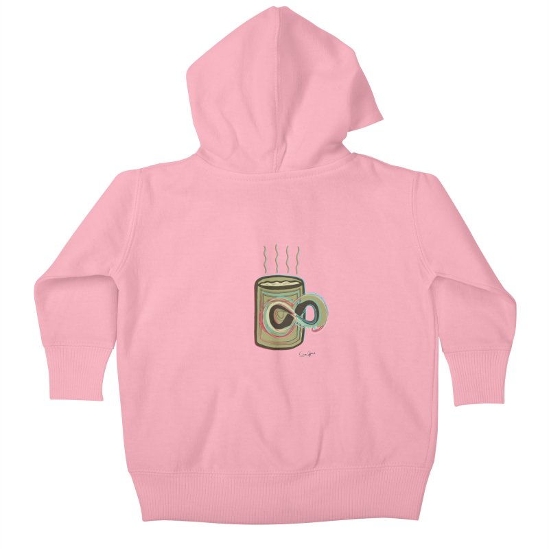 INFINITE COFFE Kids Baby Zip-Up Hoody by Sinazz's Artist Shop