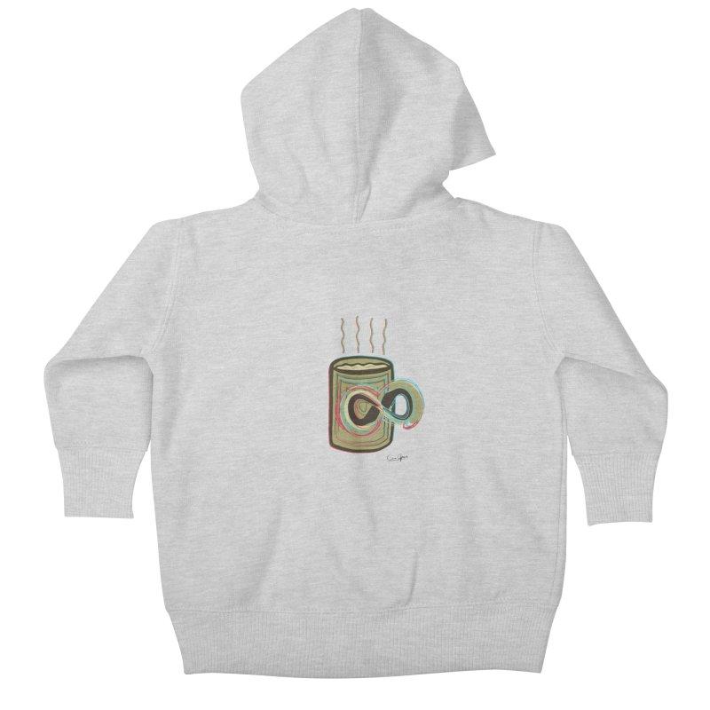 INFINITE COFFE Kids Baby Zip-Up Hoody by Sinazz's Artist Shop