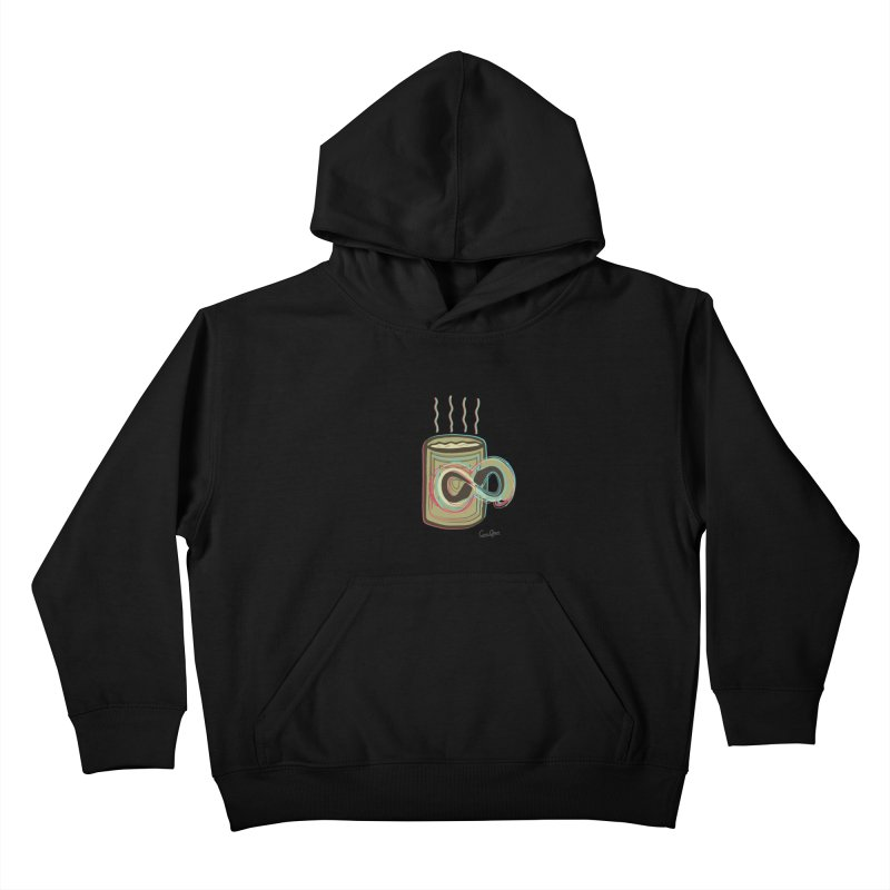INFINITE COFFE Kids Pullover Hoody by Sinazz's Artist Shop