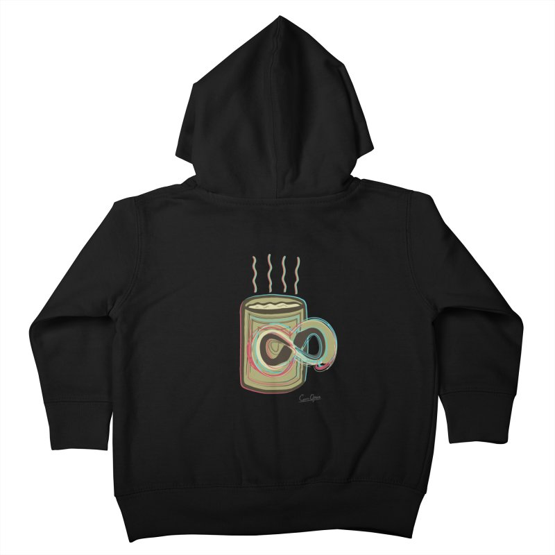INFINITE COFFE Kids Toddler Zip-Up Hoody by Sinazz's Artist Shop