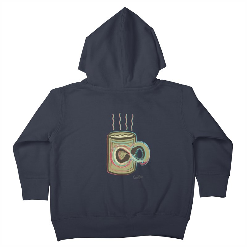 INFINITE COFFE Kids Toddler Zip-Up Hoody by Sinazz's Artist Shop