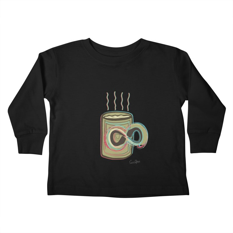 INFINITE COFFE Kids Toddler Longsleeve T-Shirt by Sinazz's Artist Shop