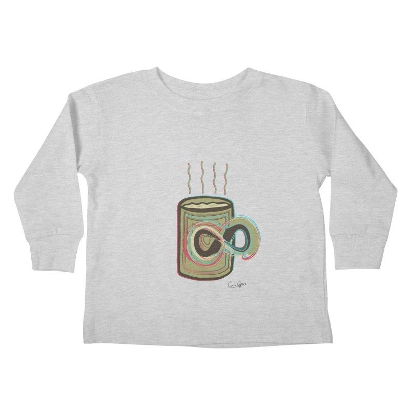 INFINITE COFFE Kids Toddler Longsleeve T-Shirt by Sinazz's Artist Shop