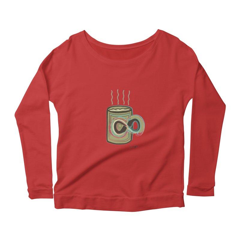 INFINITE COFFE Women's Scoop Neck Longsleeve T-Shirt by Sinazz's Artist Shop