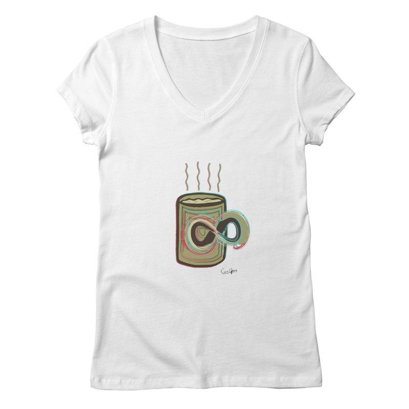 INFINITE COFFE Women's V-Neck by Sinazz's Artist Shop
