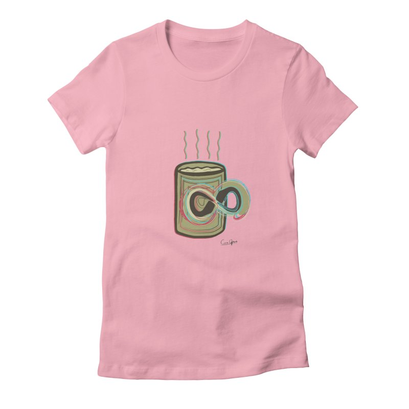 INFINITE COFFE Women's Fitted T-Shirt by Sinazz's Artist Shop