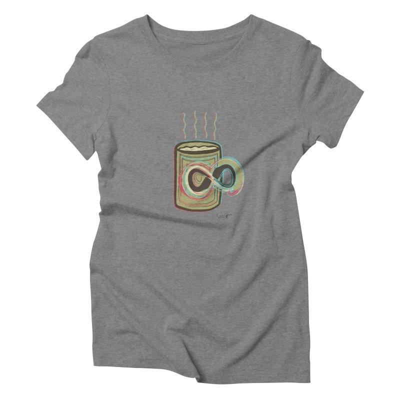 INFINITE COFFE Women's Triblend T-shirt by Sinazz's Artist Shop