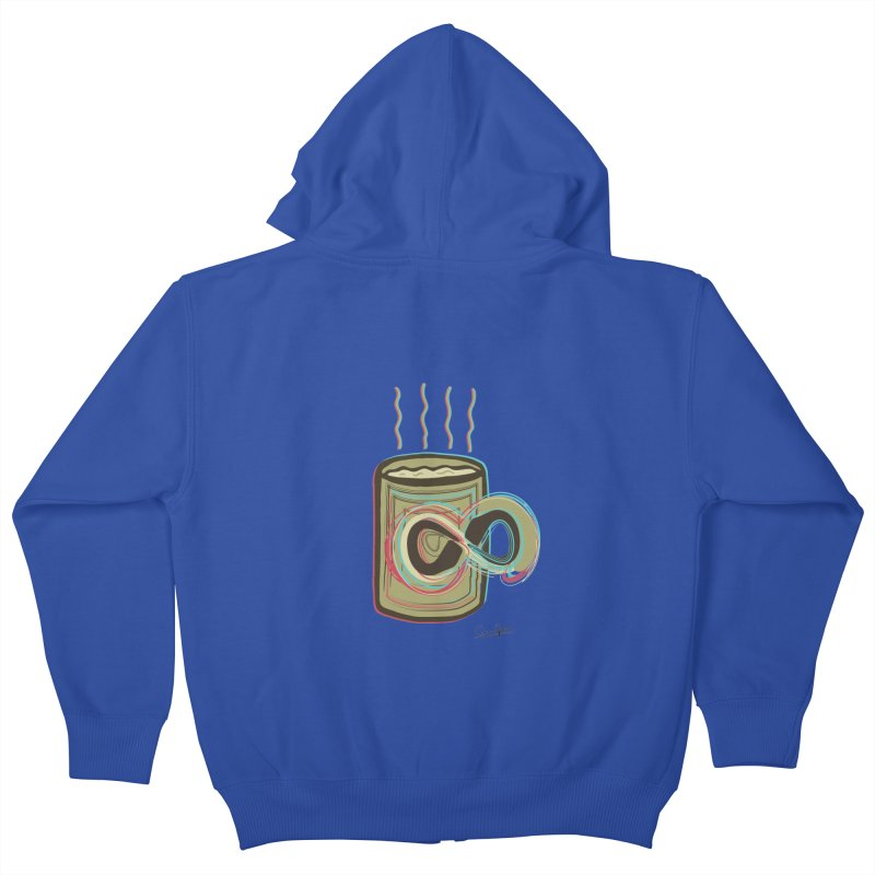 INFINITE COFFE Kids Zip-Up Hoody by Sinazz's Artist Shop