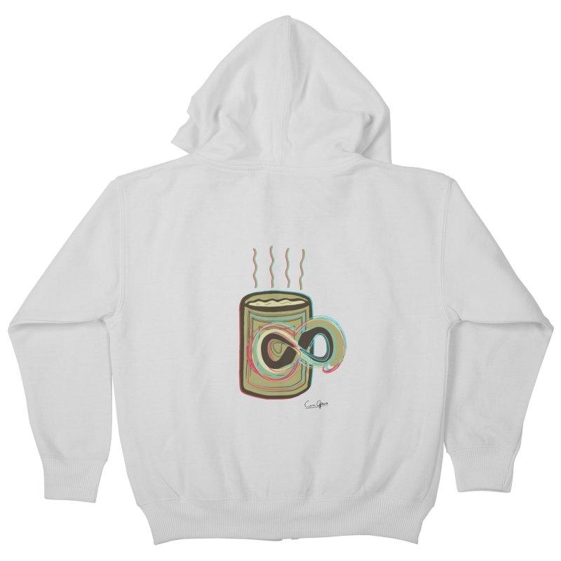 INFINITE COFFE Kids Zip-Up Hoody by Sinazz's Artist Shop