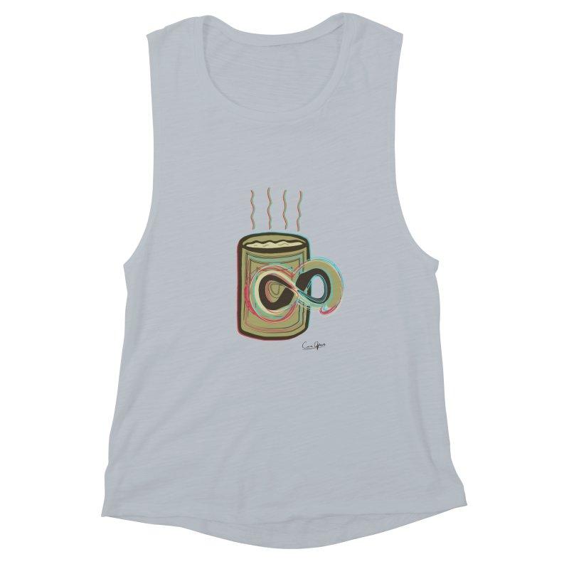 INFINITE COFFE Women's Muscle Tank by Sinazz's Artist Shop