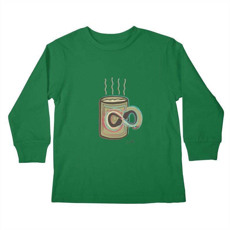INFINITE COFFE Kids Longsleeve T-Shirt by Sinazz's Artist Shop