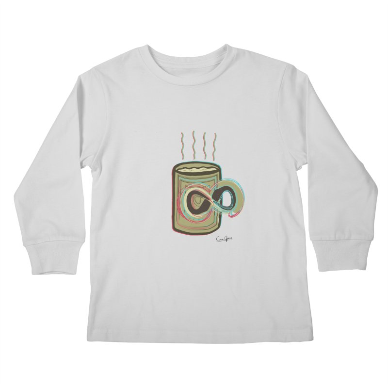 INFINITE COFFE Kids Longsleeve T-Shirt by Sinazz's Artist Shop