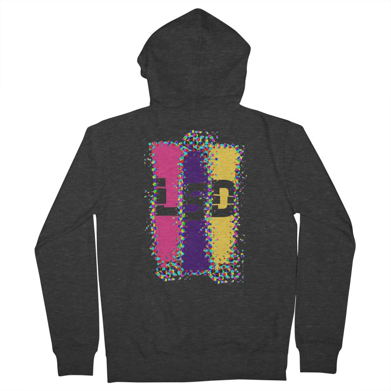 L.S.D. Men's French Terry Zip-Up Hoody by Sinazz's Artist Shop