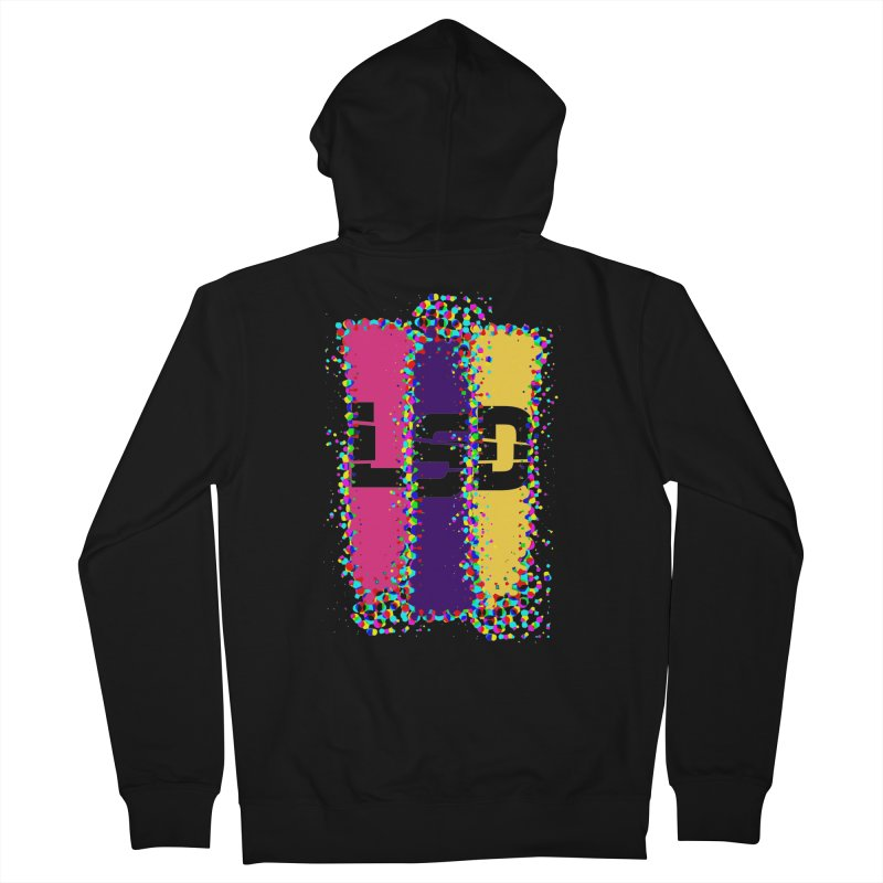 L.S.D. in Men's French Terry Zip-Up Hoody Black by Sinazz's Artist Shop