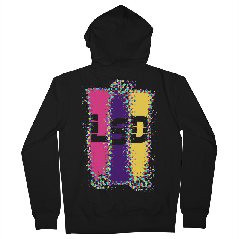 L.S.D. in Men's Zip-Up Hoody Black by Sinazz's Artist Shop