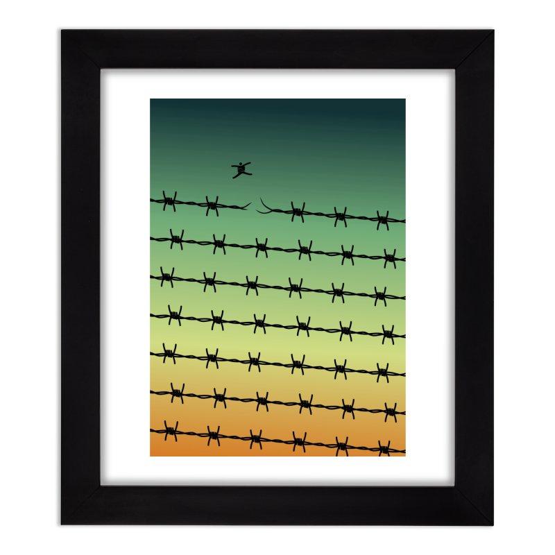 BREAK TO FREEDOM Home Framed Fine Art Print by Sinazz's Artist Shop