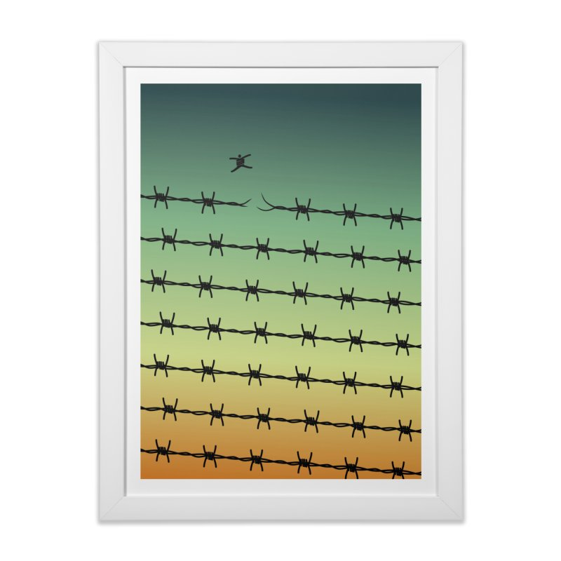 BREAK TO FREEDOM in Framed Fine Art Print White by Sinazz's Artist Shop