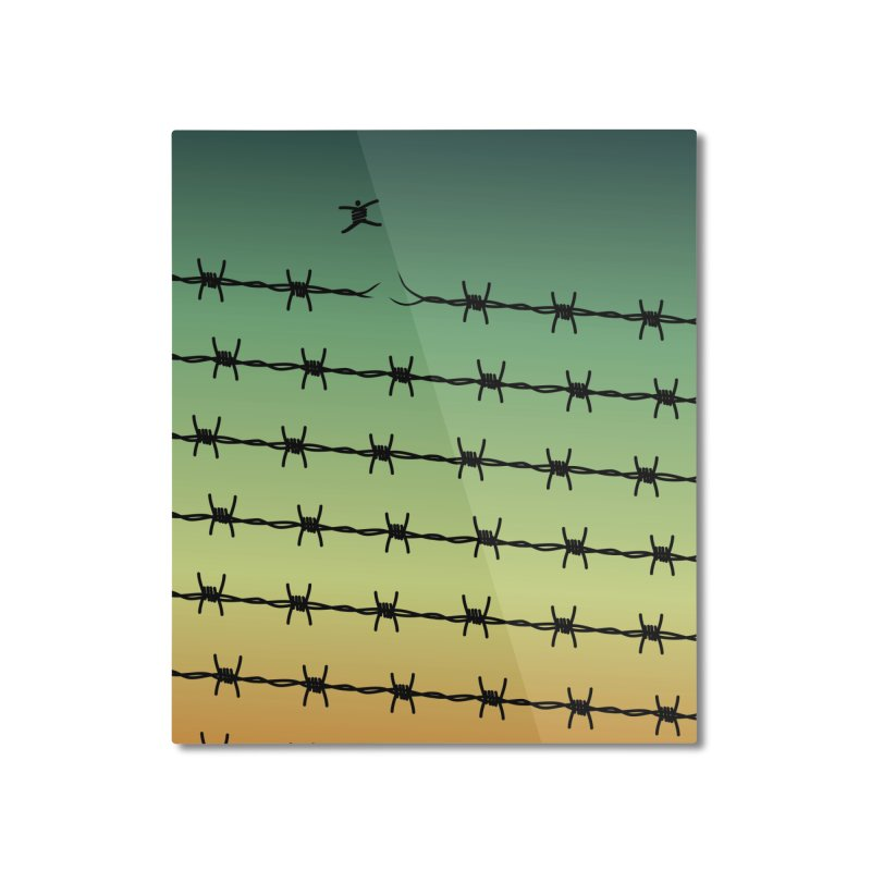 BREAK TO FREEDOM Home Mounted Aluminum Print by Sinazz's Artist Shop