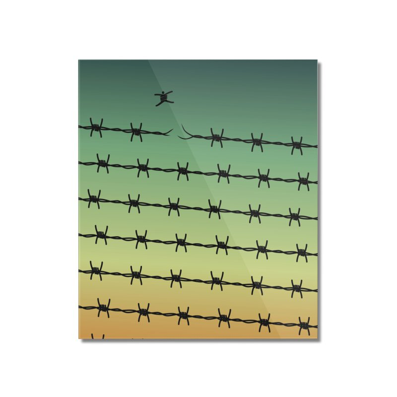 BREAK TO FREEDOM Home Mounted Acrylic Print by Sinazz's Artist Shop