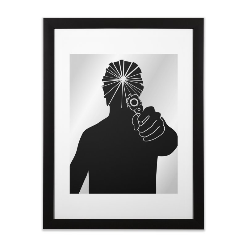 HIT in Framed Fine Art Print Black by Sinazz's Artist Shop