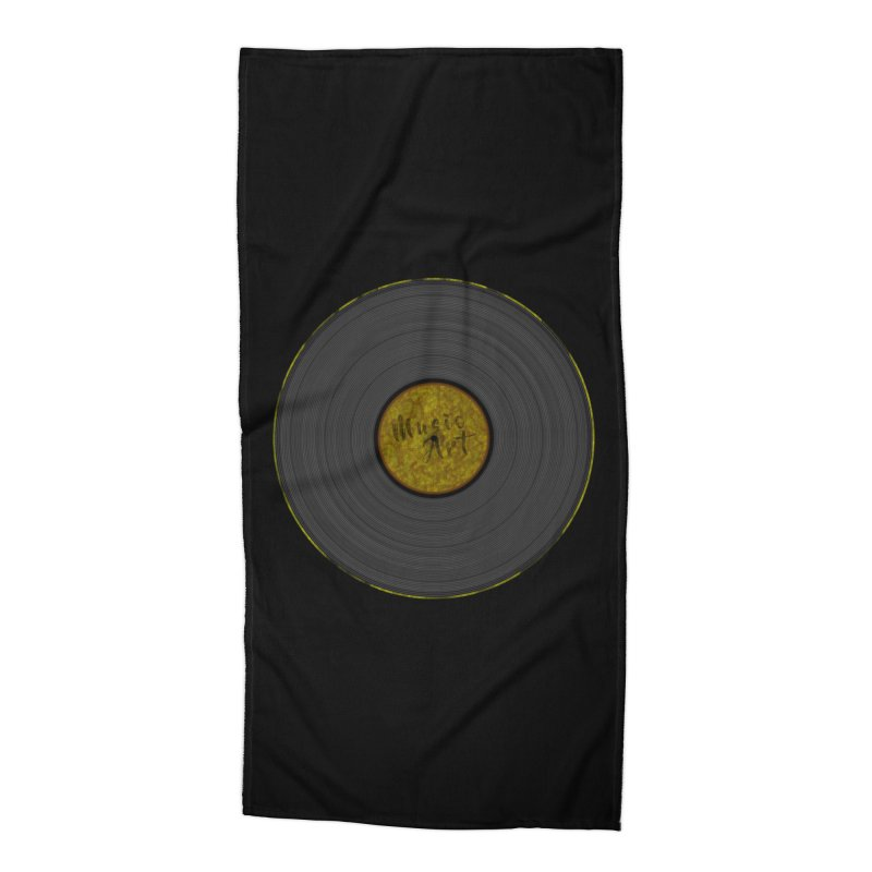 Vinyl Art Accessories Beach Towel by Sinazz's Artist Shop