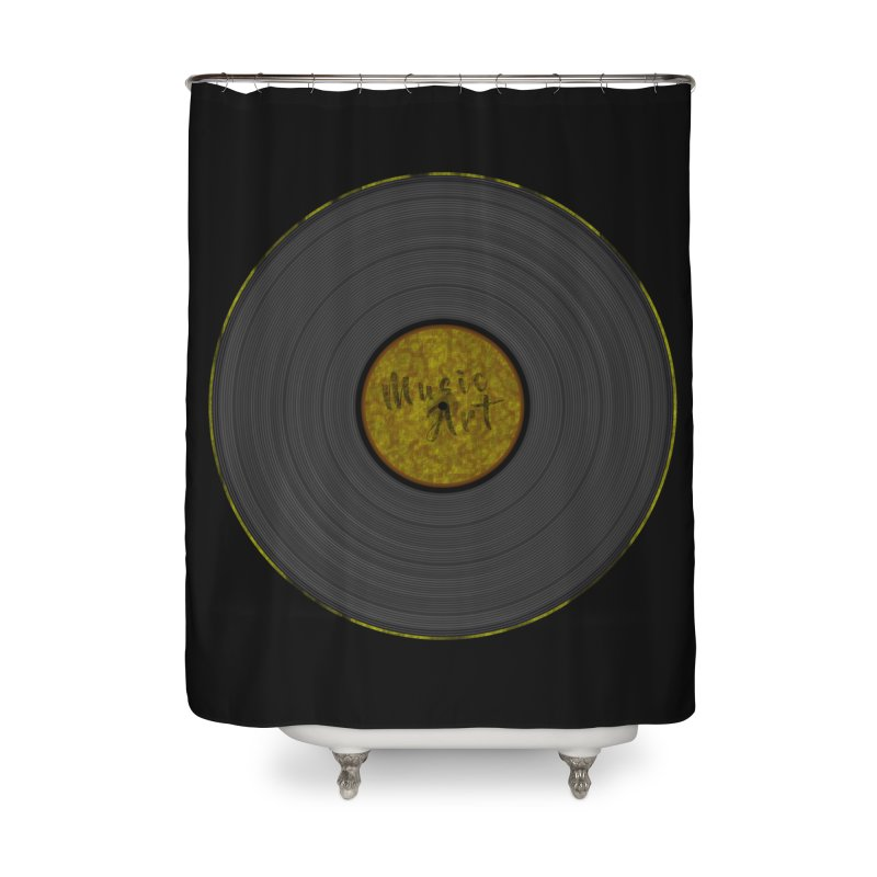 Vinyl Art Home Shower Curtain by Sinazz's Artist Shop